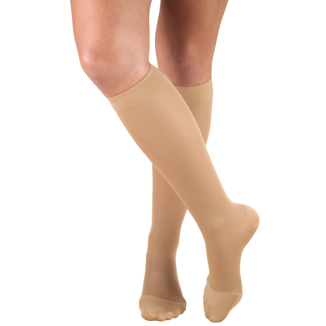 0363 / Truform Women's Compression Stockings / 20-30 mmHg / Knee High / Beige