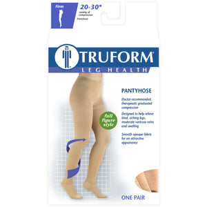 1758 / Truform Plus Size Pantyhose / 20-30 mmHg Compression / Full Figure / Packaging