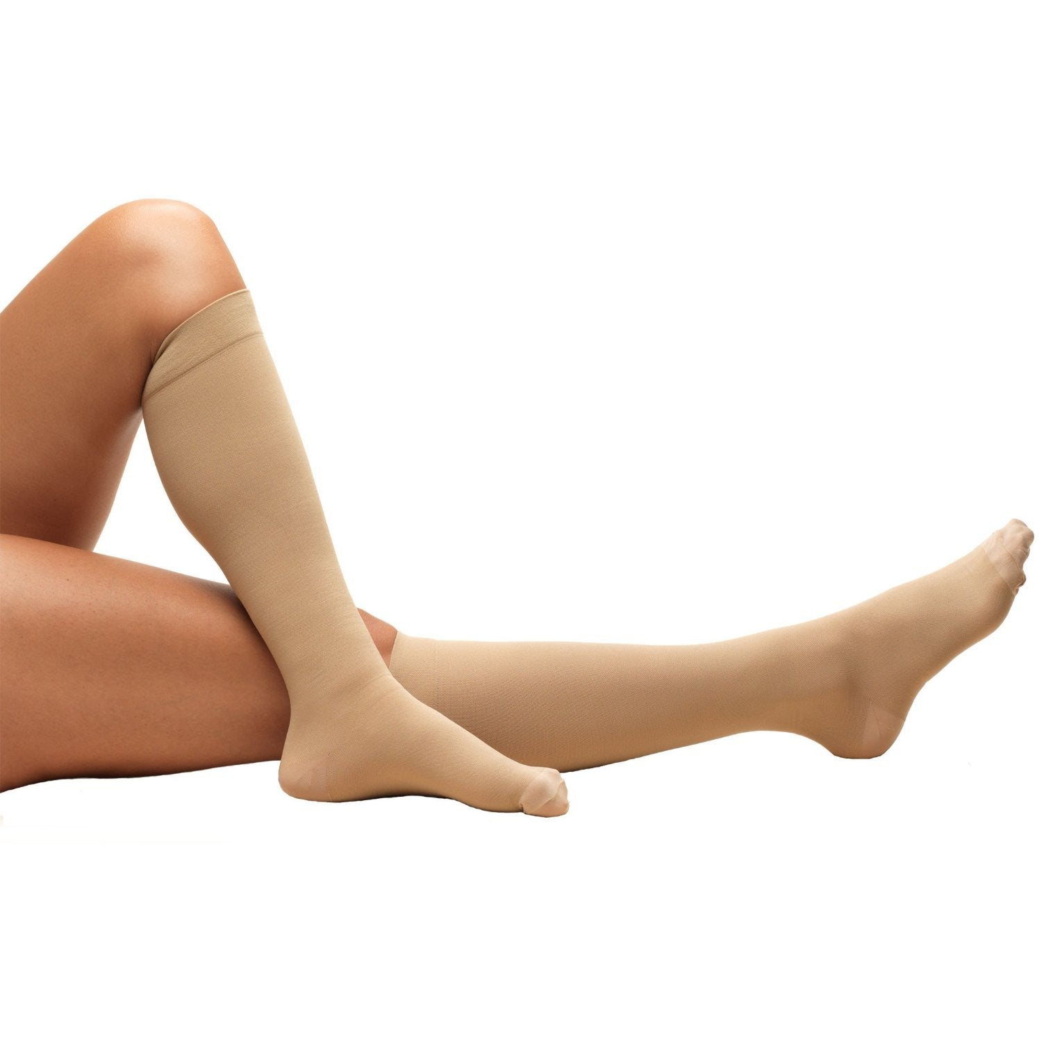 Beige 8808 Knee High Closed Toe Beige Anti-Embolism Stockings