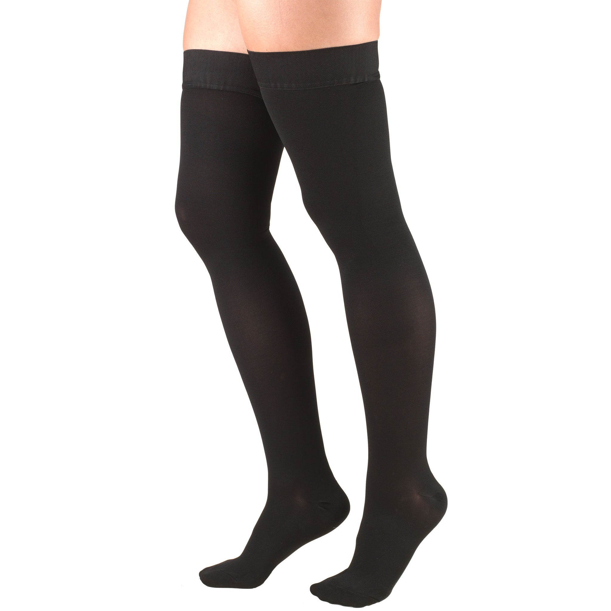 8848 THIGH HIGH CLOSED TOE BLACK STOCKINGS