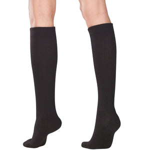 1963 / Truform Compression Socks for Women / 15-20 mmHg / Knee High / Cushion Foot / Black