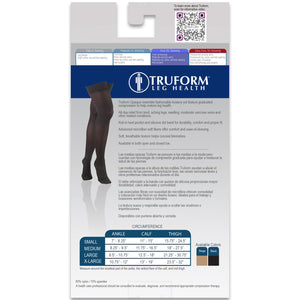 0364 / Truform Women's Compression Stockings / 20-30 mmHg / Thigh High / Packaging