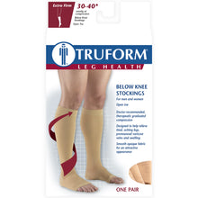 0845 / Truform Compression Stockings / 30-40 mmHg / Knee High / Open Toe / Packaging