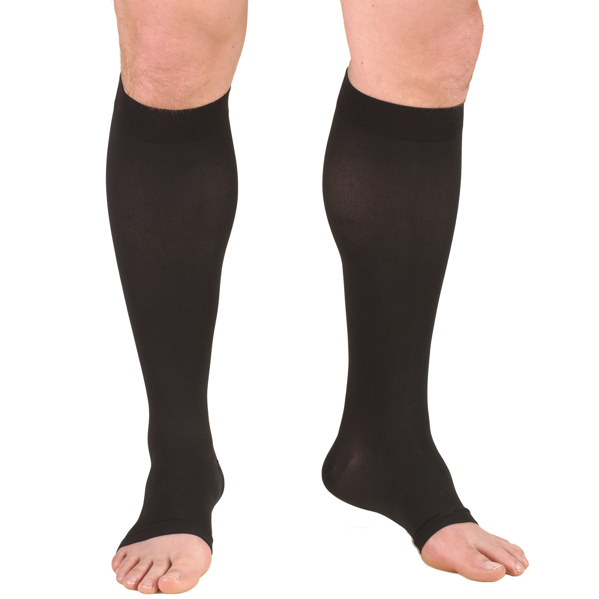 6a454bd9d3bb ... 0875 / Truform Compression Stockings / 15-20 mmHg / Knee High / Open  Toe ...