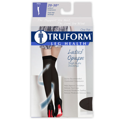 Ladies' Opaque Thigh High Closed Toe