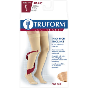 8848 / Truform Compression Stockings / 30-40 mmHg / Thigh High / Dot Top / Packaging