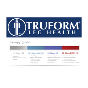 0845 / Truform Compression Stockings / 30-40 mmHg / Knee High / Open Toe / Therapy Guide