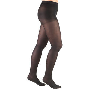 0375 / Truform Compression Pantyhose / 15-20 mmHg / Opaque Microfiber / Black