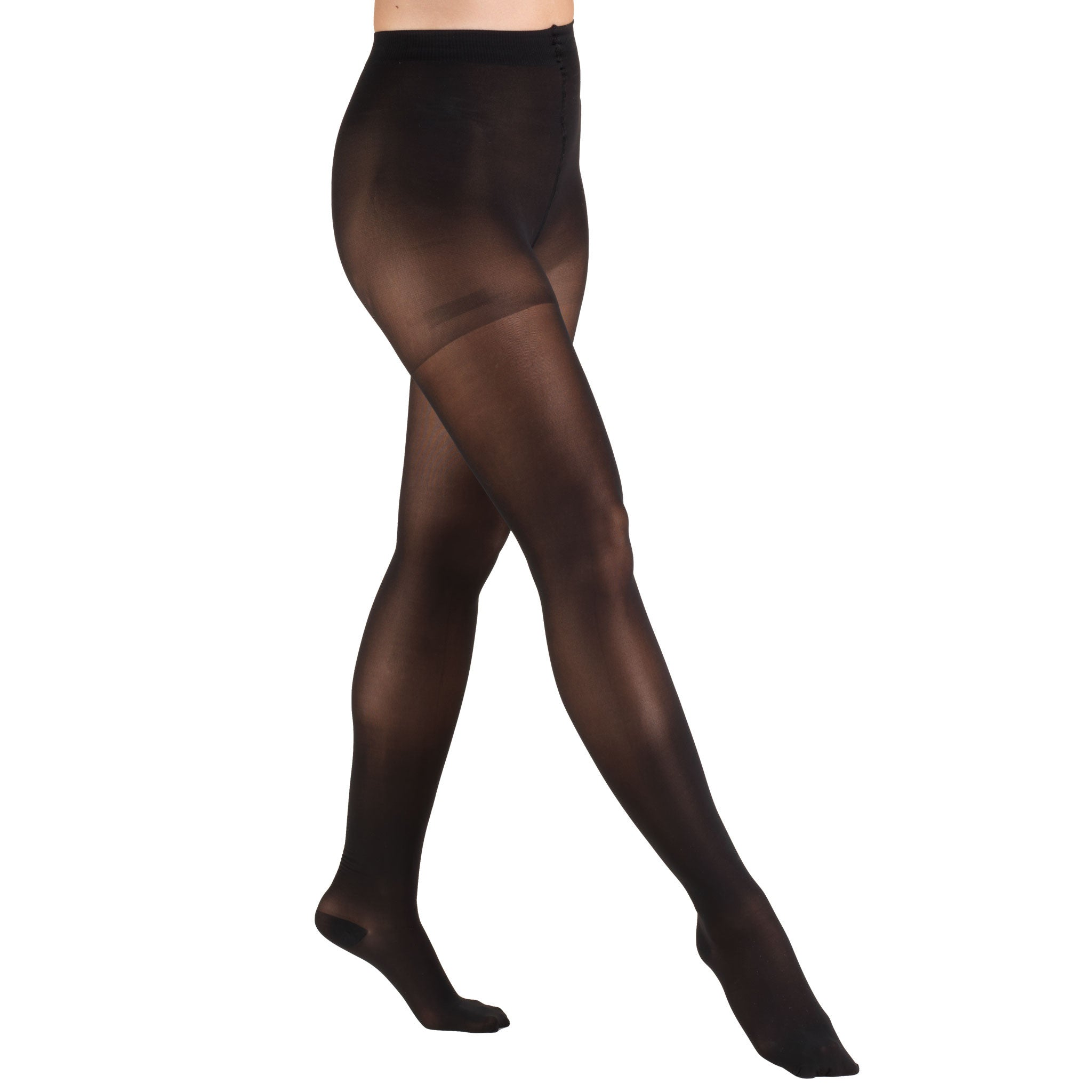 CLOSED TOE BLACK TRUSHEER PANTYHOSE