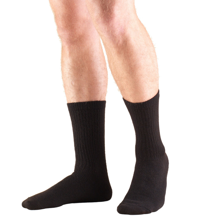 1912 / Truform Compression Socks / 8-15 mmHg / Crew Length / Black