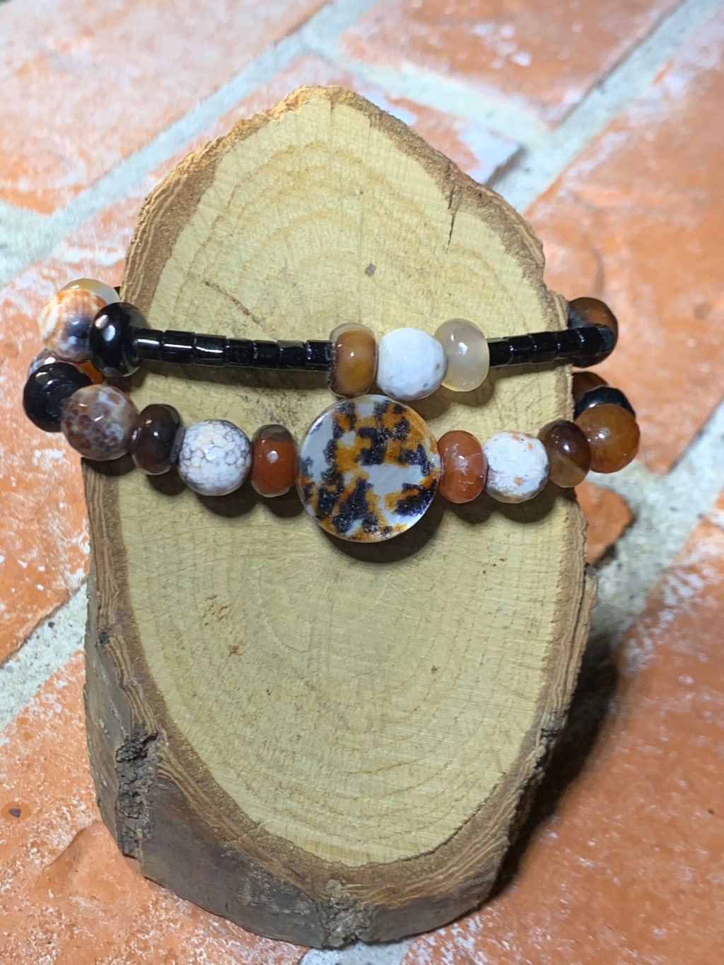 Wild About Fall Fire Agate Bracelets