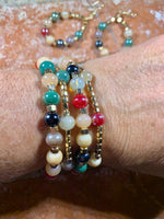Autumn Color Story Glass and Hematite Bracelets