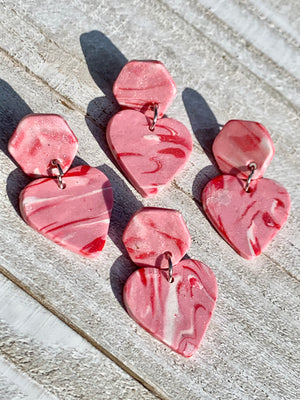 Hannah Hexi-Heart Earrings