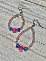 Candie Crackled Glass Earrings