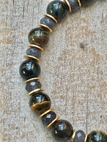 Beautiful Day Recycled Glass and Tiger Eye Bracelet