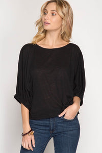 Simply black lovely top