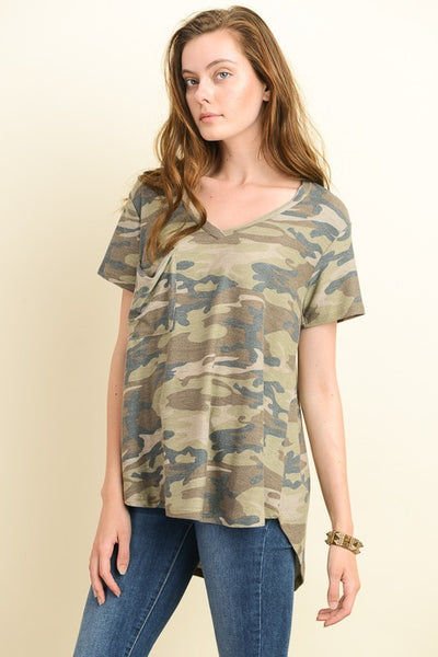 Chief camo top Tesoro Mio Boutique Basic Tee