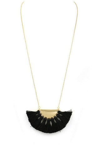 Black tassel necklace Tesoro Mio Boutique Accessories