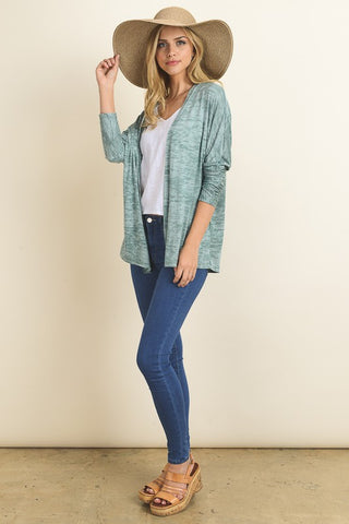 Palm breeze green cardigan
