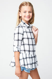 Little peplum plaid Tesoro Mio Boutique Top