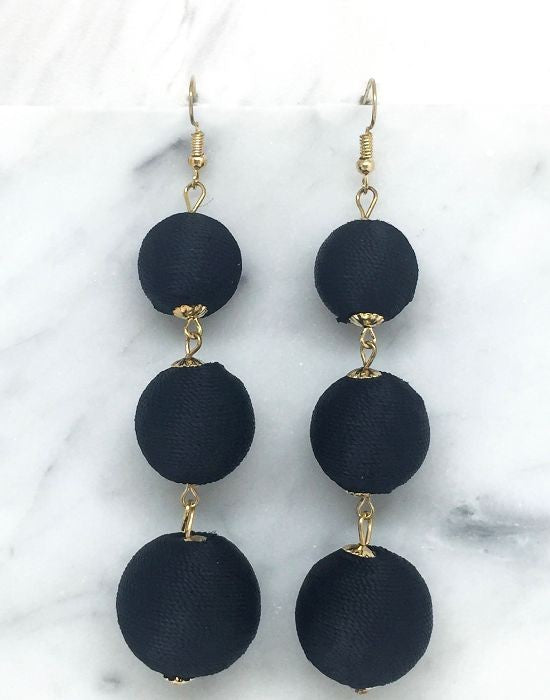 Black Bon Bon earrings