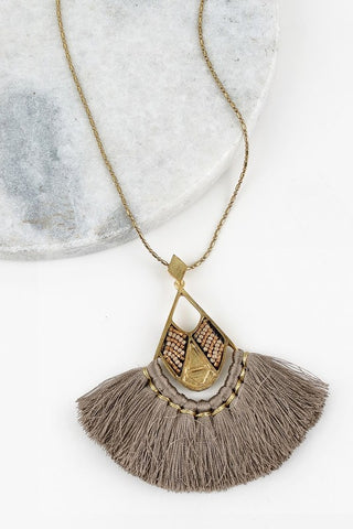 True colors necklace-Grey Tesoro Mio Boutique Accessories