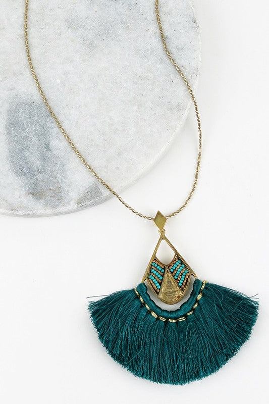 True colors necklace- Teal Tesoro Mio Boutique Accessories