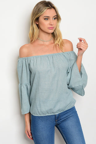 Play it cool off the shoulder top