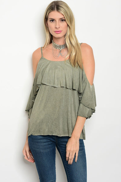 Dare to bare cold shoulder Tesoro Mio Boutique Top