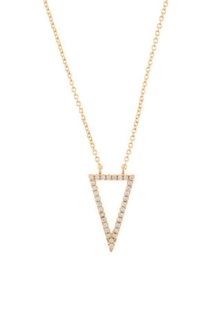 Triangle delicate necklace Tesoro Mio Boutique Accessories