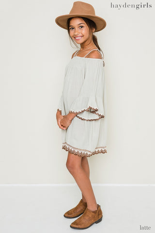 Latte boho dress Tesoro Mio Boutique Dress