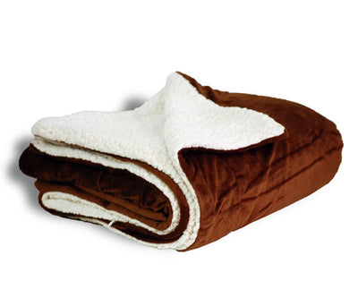 Custom Embroidered Mink Sherpa Blanket - QUAL2008