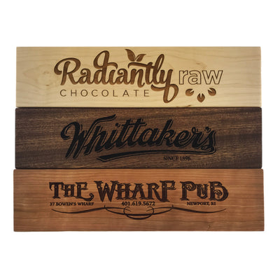 Large Custom High End Laser Engraved Wooden Plaques QUAL1037
