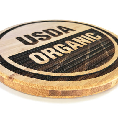 Custom Laser Engraved Solid Bamboo Trivets QUAL1057