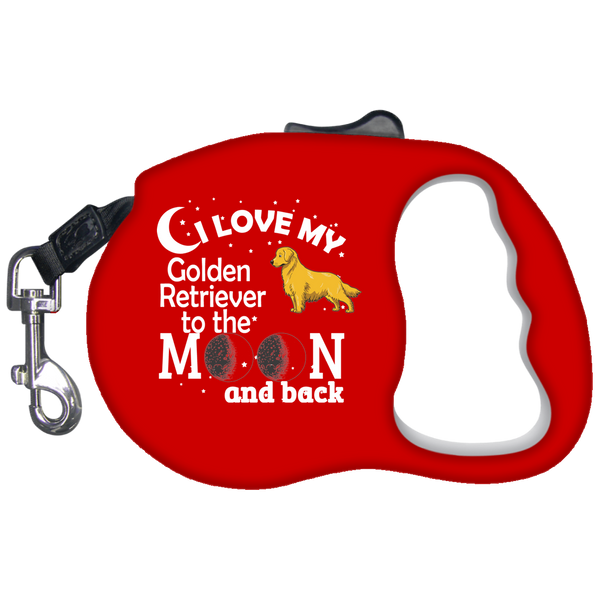 Love Golden Retriever Retractable Leash