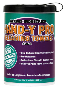 Aervoe Hand-y Pro Towels 75-count tub Plus 1 Refill Pouch
