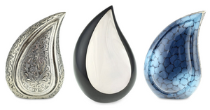 Teardrop-shaped urns - a modern alternative