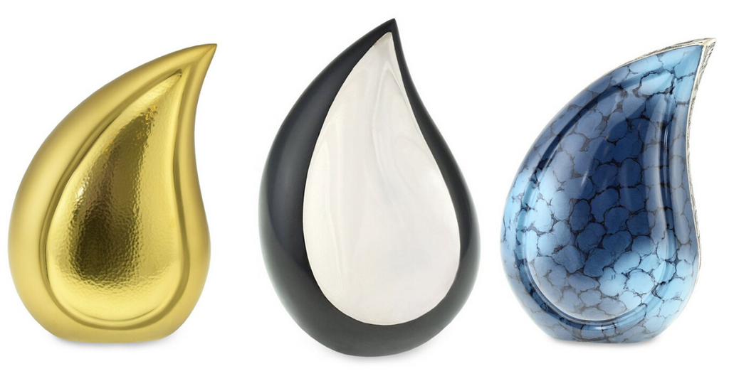 Teardrop Cremation urns for your loved one's ashes