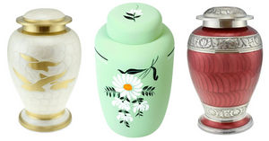 Cremation urns to keep ashes safe until the funeral