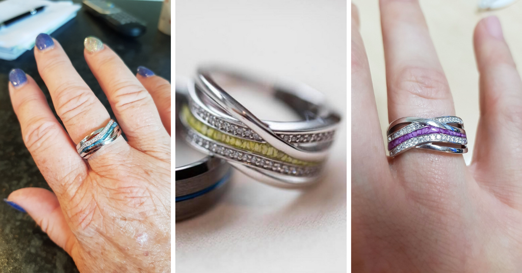 Our most popular cremation jewellery memorial ashes ring