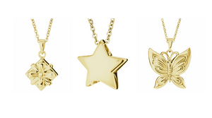Gold Memorial Pendants to Fill Yourself