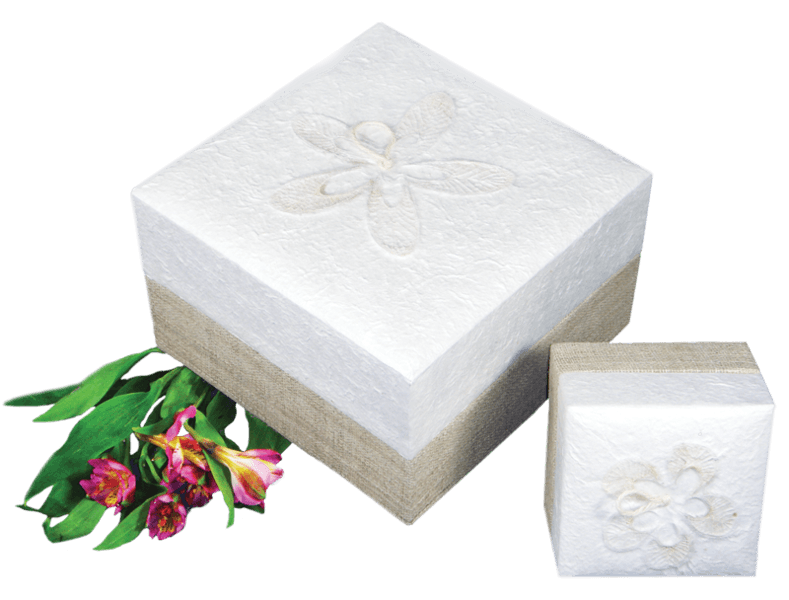 Box Shaped Biodegradable Urns