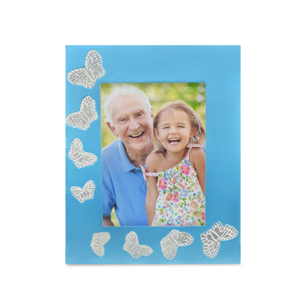 Blue Butterfly Photoframe - Cherished Urns