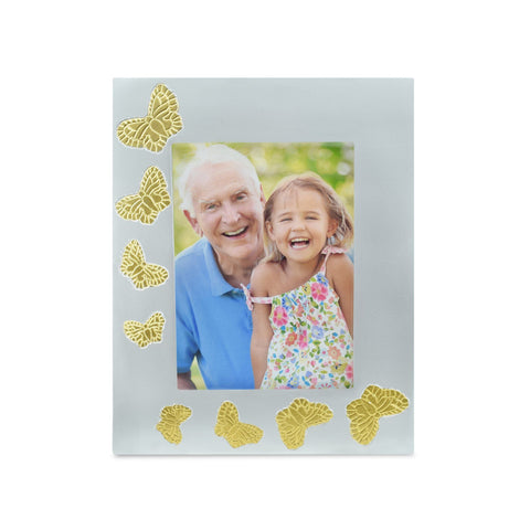 Pewter Butterfly Photoframe - Cherished Urns