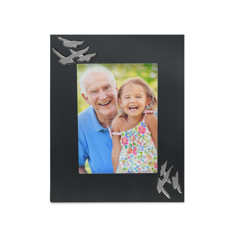 Going Home Black & Nickel Matt Photoframe - Cherished Urns