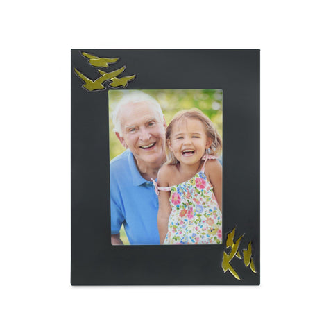Going Home Black & Bronze Matt Photoframe - Cherished Urns