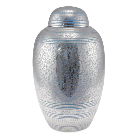 Blue Engraved Going Home Adult Cremation Urn for Ashes - Cherished Urns