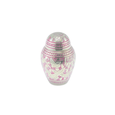 Keepsake Pink Engraved Going Home Adult Cremation Urn - Cherished Urns