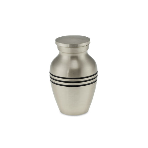 Polurrian Keepsake Classic Brushed Pewter Adult Cremation Urn - Cherished Urns
