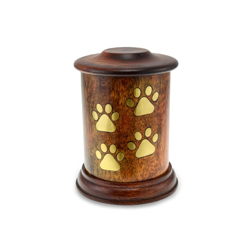 Gorran Wooden Pet Urn - Small. Capacity of 50 cubic inches. - Cherished Urns